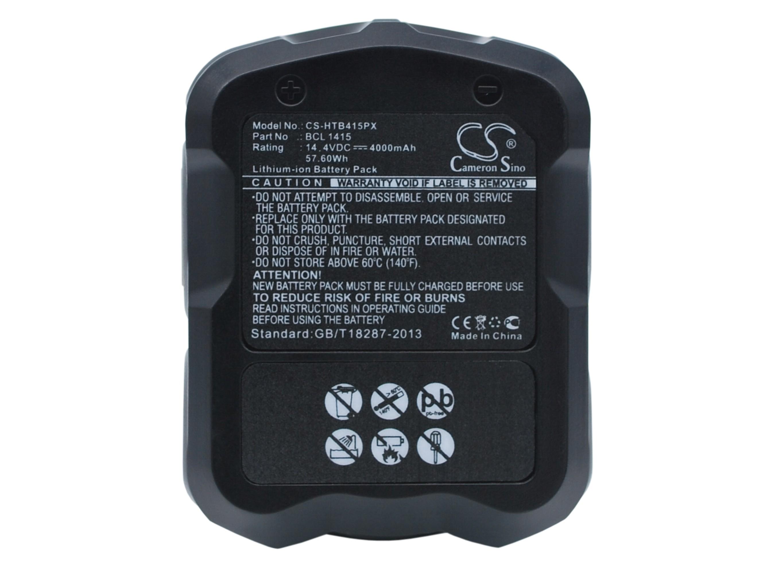 Cameron Sino baterie do nářadí pro HITACHI DV 14DL 14.4V Li-ion 4000mAh černá - neoriginální