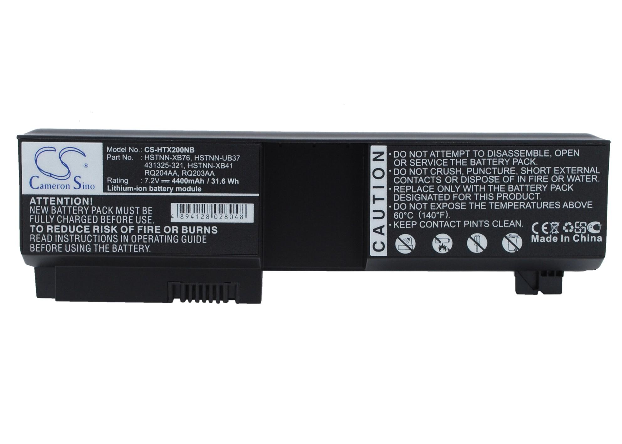 Cameron Sino baterie do notebooků pro HP Pavilion tx1000 7.2V Li-ion 4400mAh černá - neoriginální