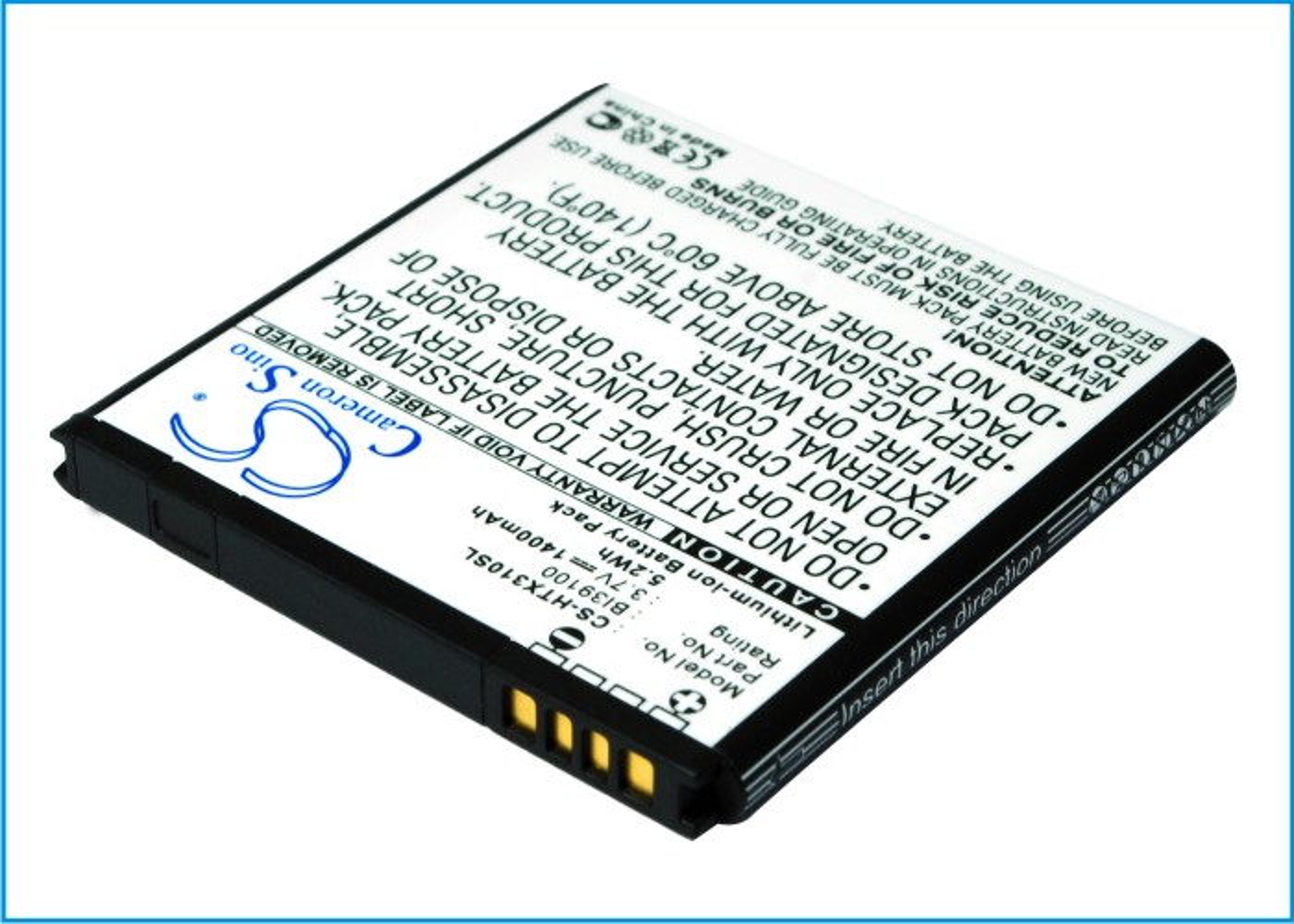 Cameron Sino baterie do mobilů pro HTC Sensation XL 3.8V Li-ion 1400mAh černá - neoriginální