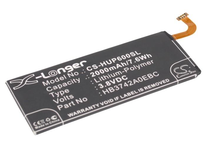Cameron Sino baterie do mobilů pro HUAWEI Ascend P6S 3.8V Li-Polymer 2000mAh černá - neoriginální