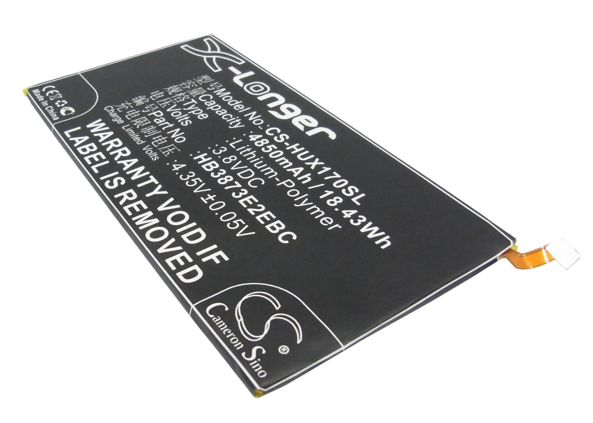 Cameron Sino baterie do tabletů pro HUAWEI Mediapad X1 7.0 3G 3.8V Li-Polymer 4850mAh černá - neoriginální