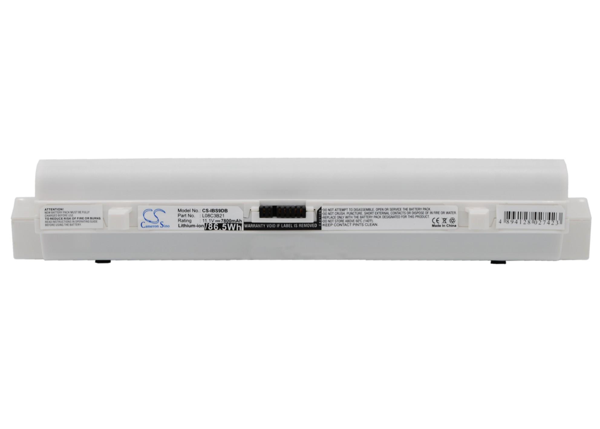 Cameron Sino baterie do notebooků pro LENOVO ideapad S9 11.1V Li-ion 7800mAh bílá - neoriginální