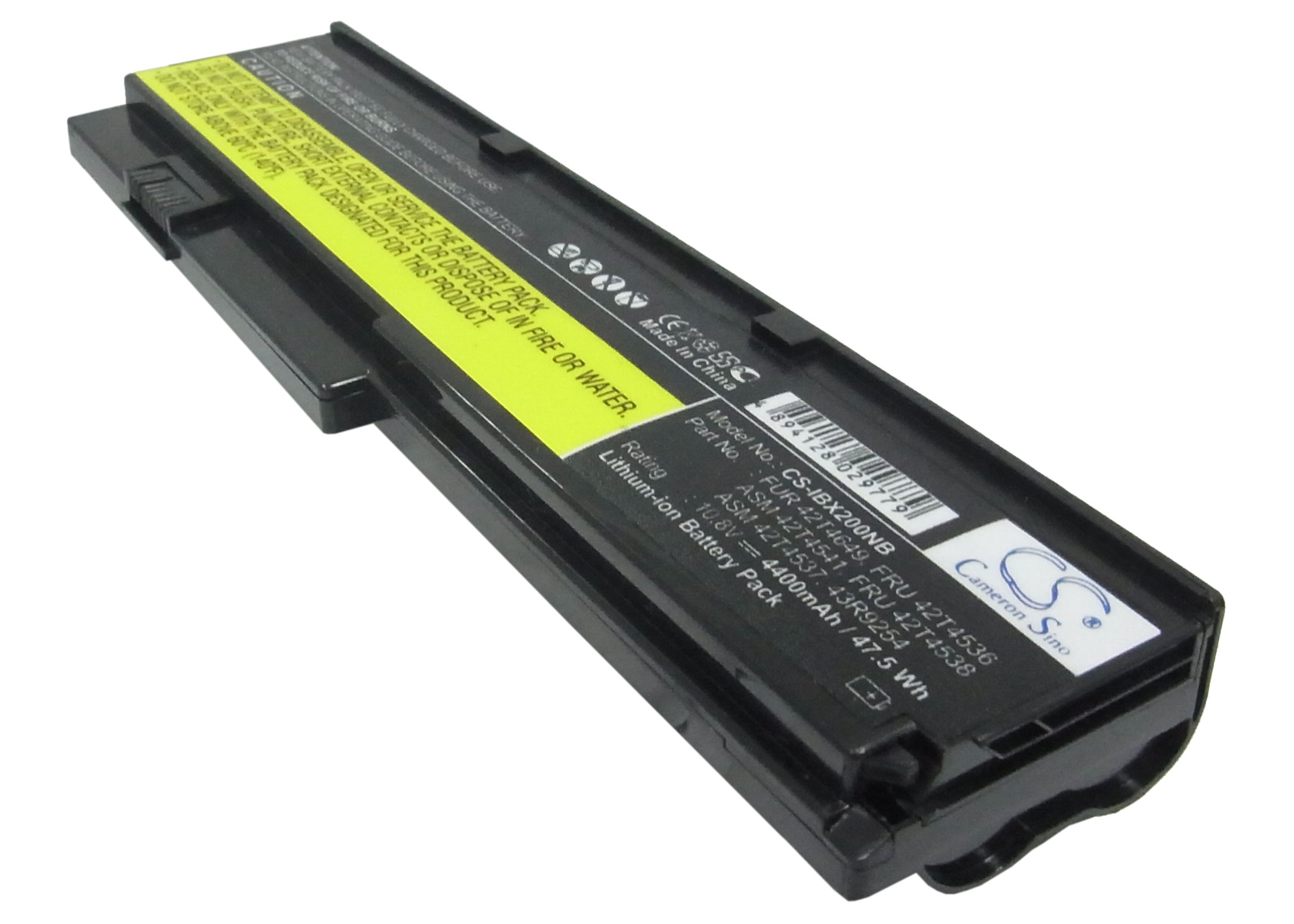 Cameron Sino baterie do notebooků pro LENOVO ThinkPad X201i 10.8V Li-ion 4400mAh černá - neoriginální