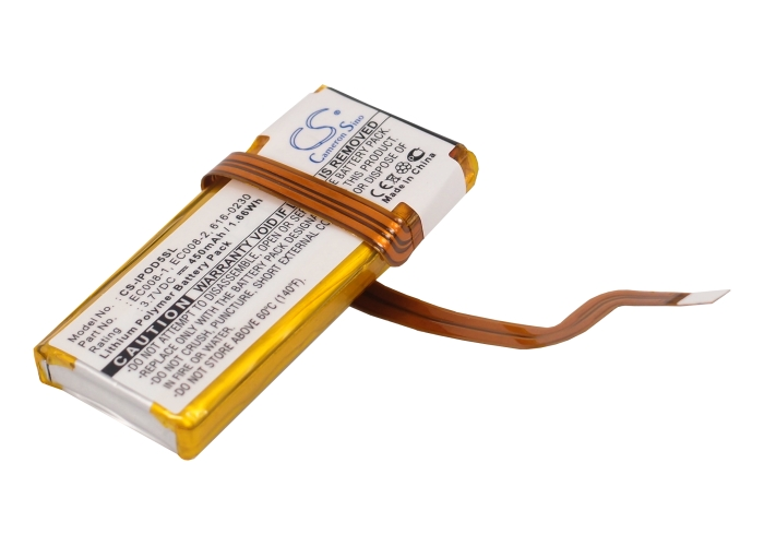 Cameron Sino baterie do mp3 přehrávačů pro APPLE iPod Classic 6th GEN MB147C/A 80GB 3.7V Li-Polymer 450mAh černá - neoriginální