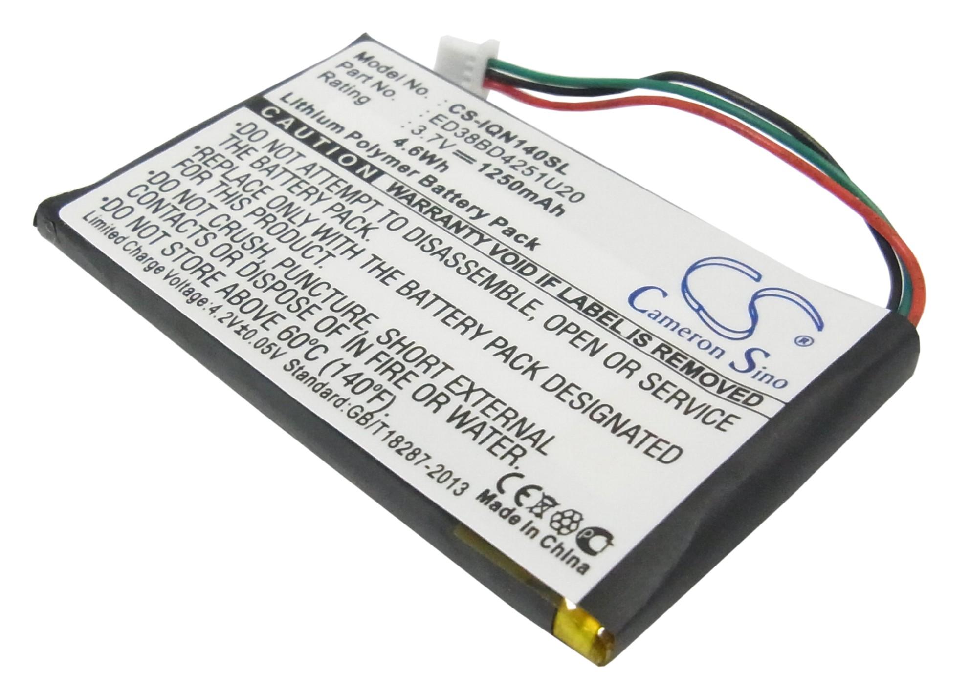 Cameron Sino baterie do navigací (gps) pro GARMIN Nuvi 1450 3.7V Li-Polymer 1250mAh černá - neoriginální