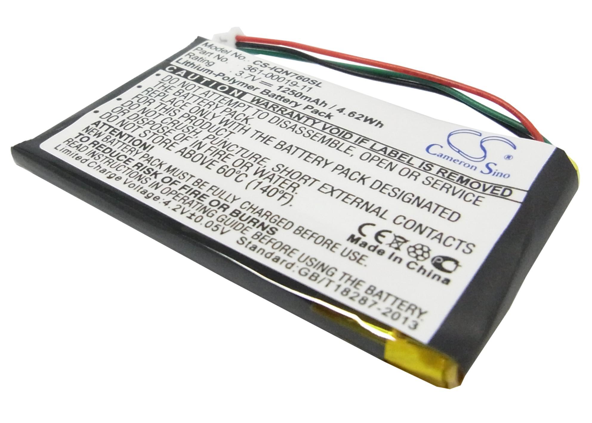 Cameron Sino baterie do navigací (gps) pro GARMIN Nuvi 765 3.7V Li-Polymer 1250mAh černá - neoriginální