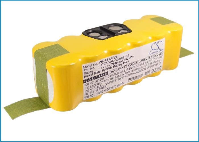 Cameron Sino baterie do vysavačů pro IROBOT Roomba 500 14.4V Ni-MH 2800mAh žlutá - neoriginální