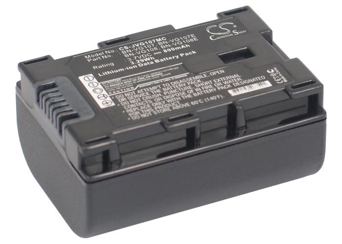 Cameron Sino baterie do kamer a fotoaparátů pro JVC GZ-E205 3.7V Li-ion 890mAh černá - neoriginální