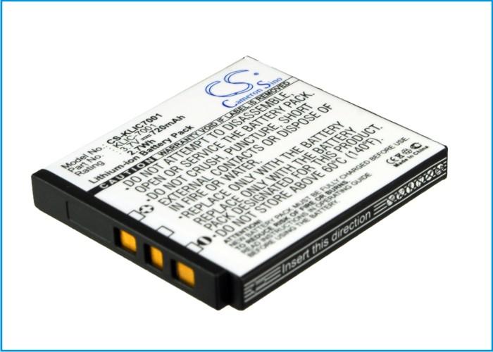 Cameron Sino baterie do kamer a fotoaparátů pro KODAK EasyShare V705 3.7V Li-ion 720mAh černá - neoriginální