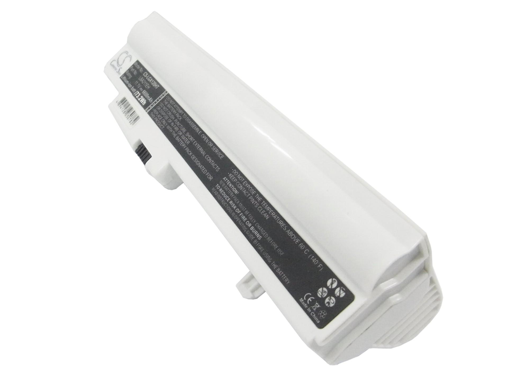 Cameron Sino baterie do netbooků pro LG X120-L.C7B1A9 11.1V Li-ion 6600mAh bílá - neoriginální