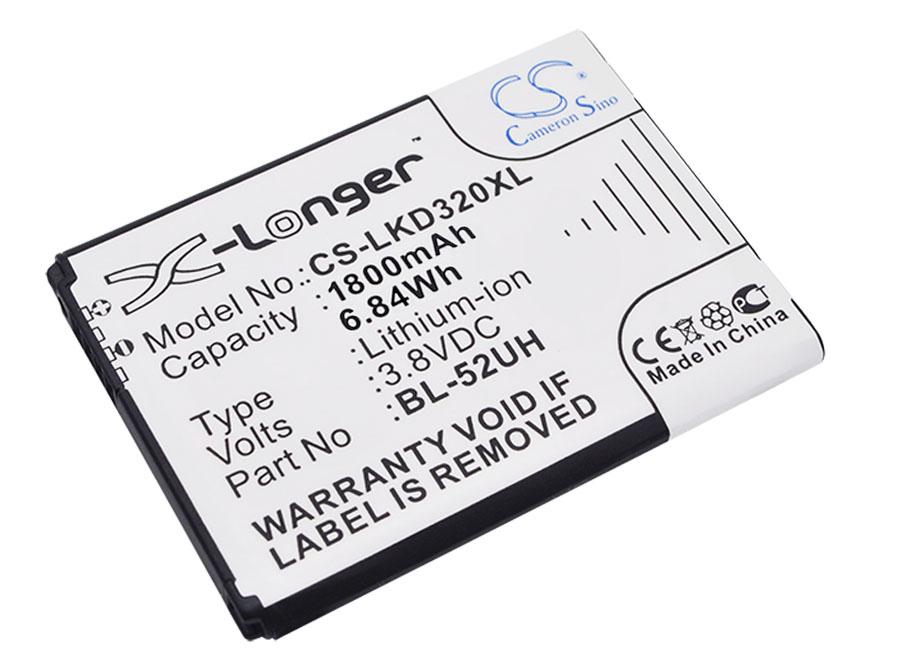 Cameron Sino baterie do mobilů pro LG Optimus L65 3.8V Li-ion 1800mAh černá - neoriginální