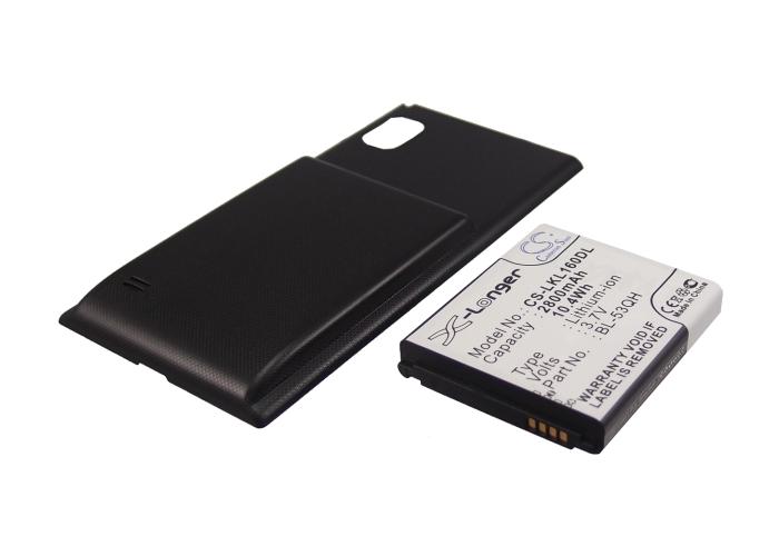 Cameron Sino baterie do mobilů pro LG Optimus LTE 2 3.7V Li-ion 2800mAh černá - neoriginální
