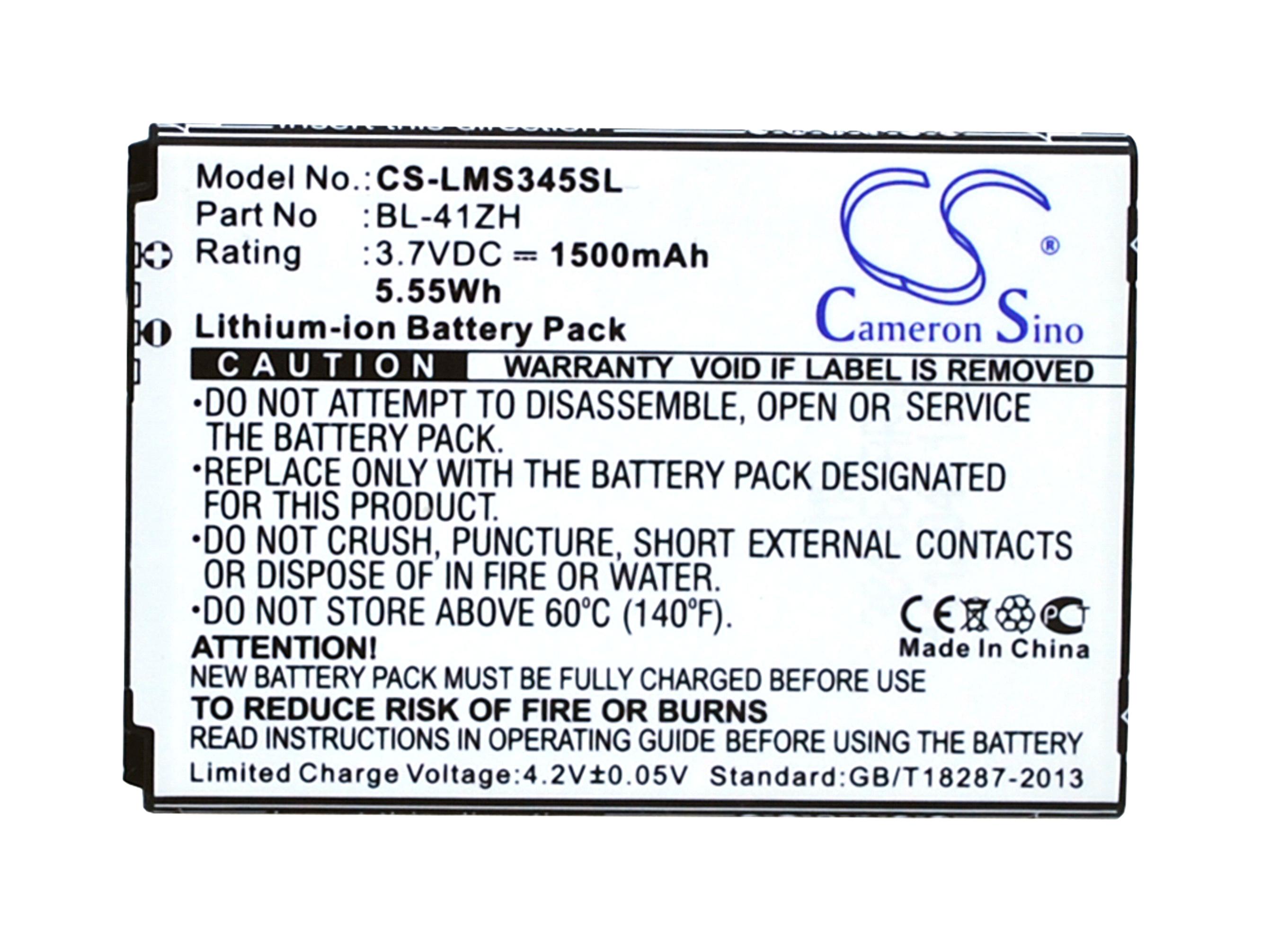 Cameron Sino baterie do mobilů pro LG Leon TV Dual SIM 3.7V Li-ion 1500mAh černá - neoriginální