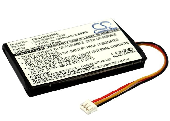 Cameron Sino baterie do dálkových ovladačů pro LOGITECH Harmony Touch 3.7V Li-ion 1050mAh černá - neoriginální