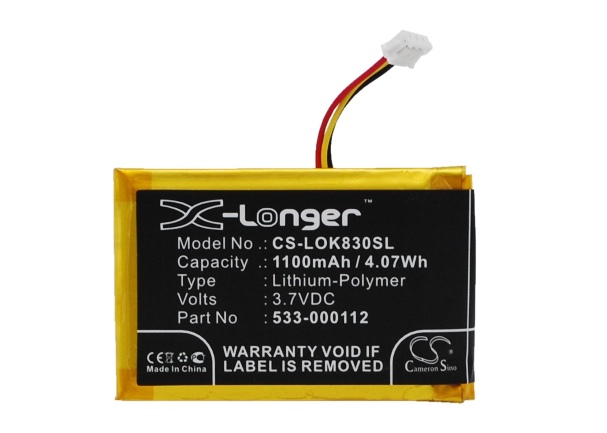 Cameron Sino baterie do klávesnic pro LOGITECH K830 3.7V Li-Polymer 1100mAh černá - neoriginální