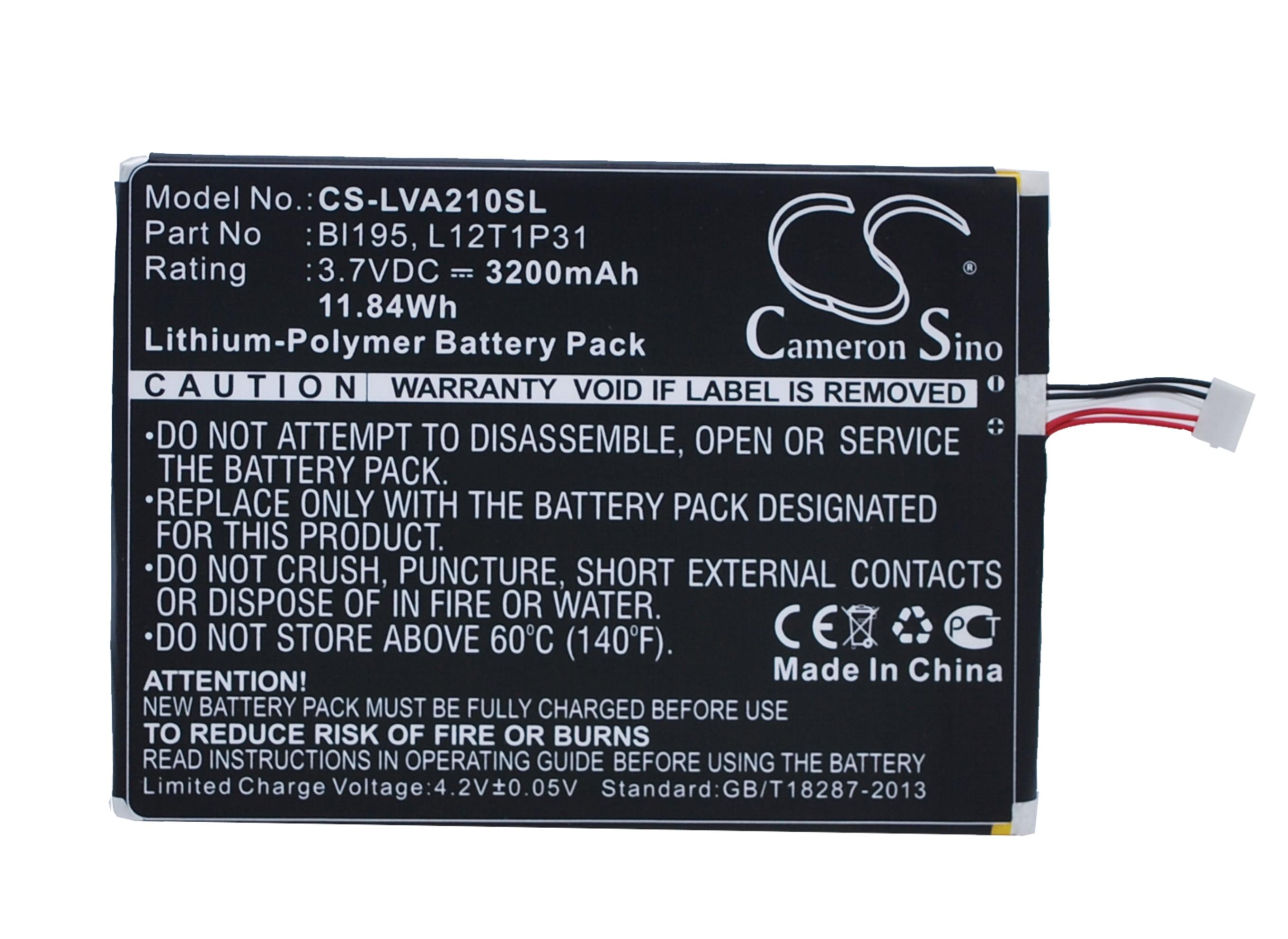 Cameron Sino baterie do tabletů pro LENOVO A2107 3.7V Li-Polymer 3200mAh černá - neoriginální