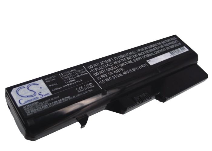Cameron Sino baterie do notebooků pro LENOVO IdeaPad V370 11.1V Li-ion 6600mAh černá - neoriginální