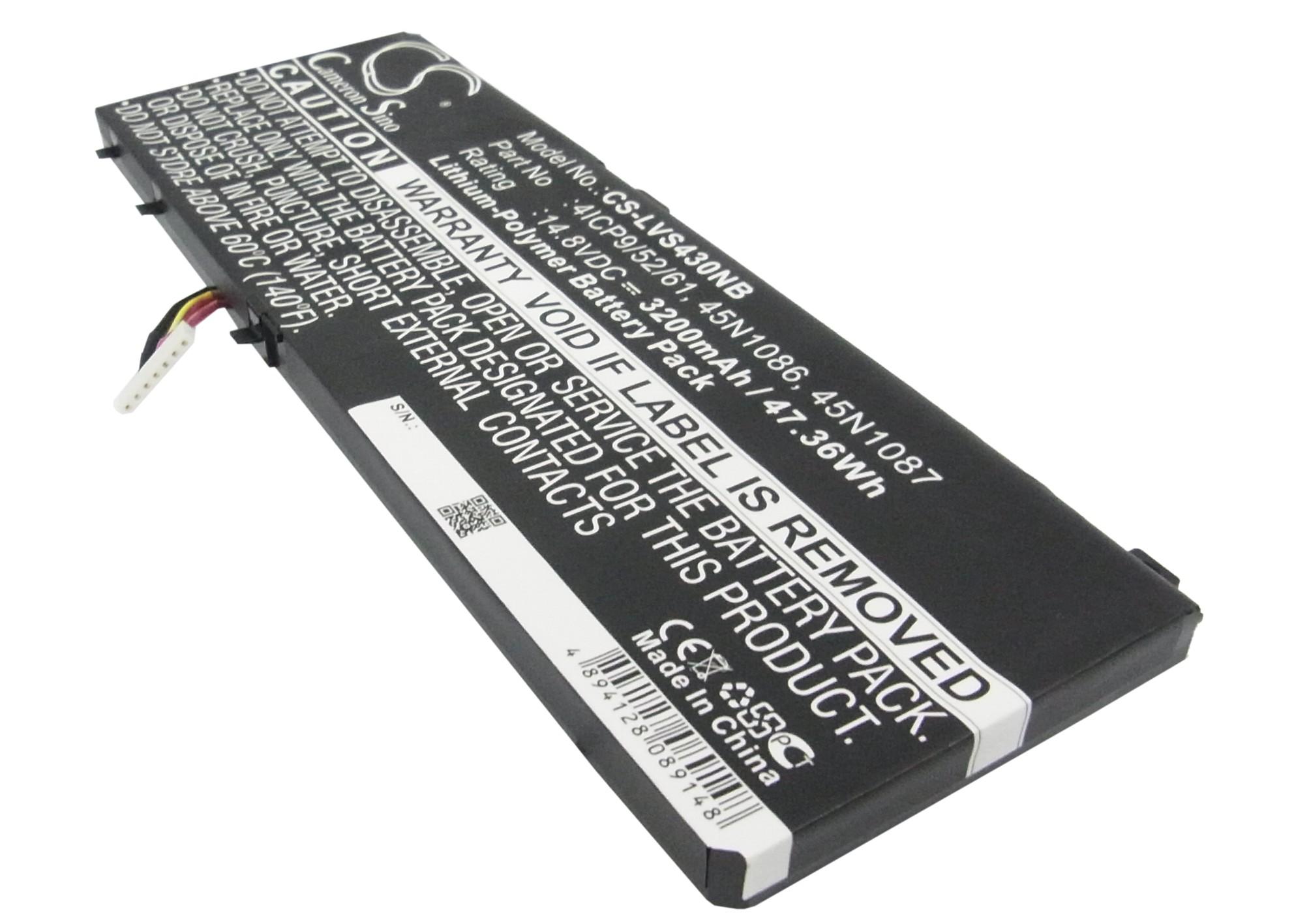 Cameron Sino baterie do notebooků pro LENOVO Edge S430 14.8V Li-Polymer 3200mAh černá - neoriginální