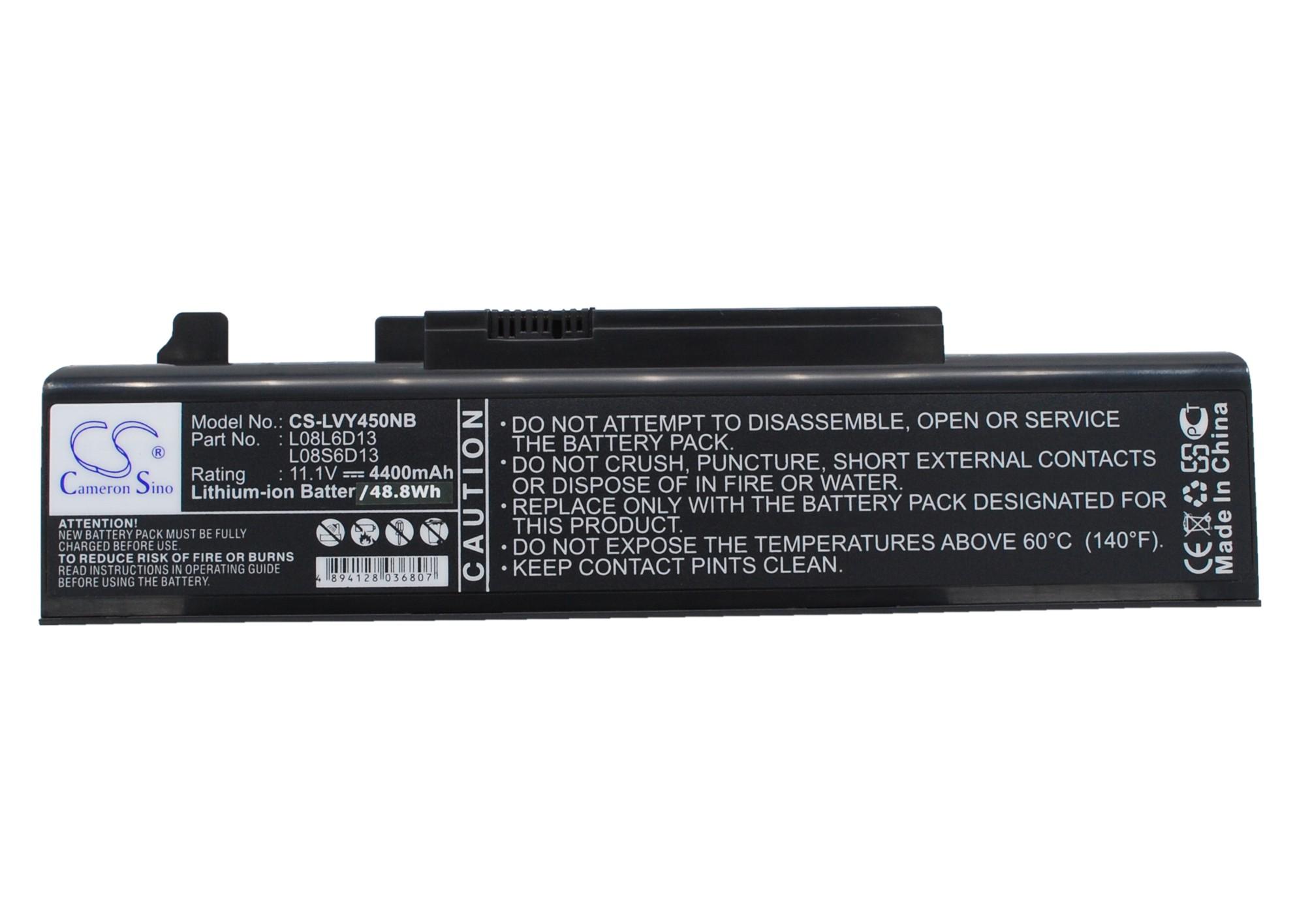 Cameron Sino baterie do notebooků pro LENOVO IdeaPad Y550 11.1V Li-ion 4400mAh černá - neoriginální