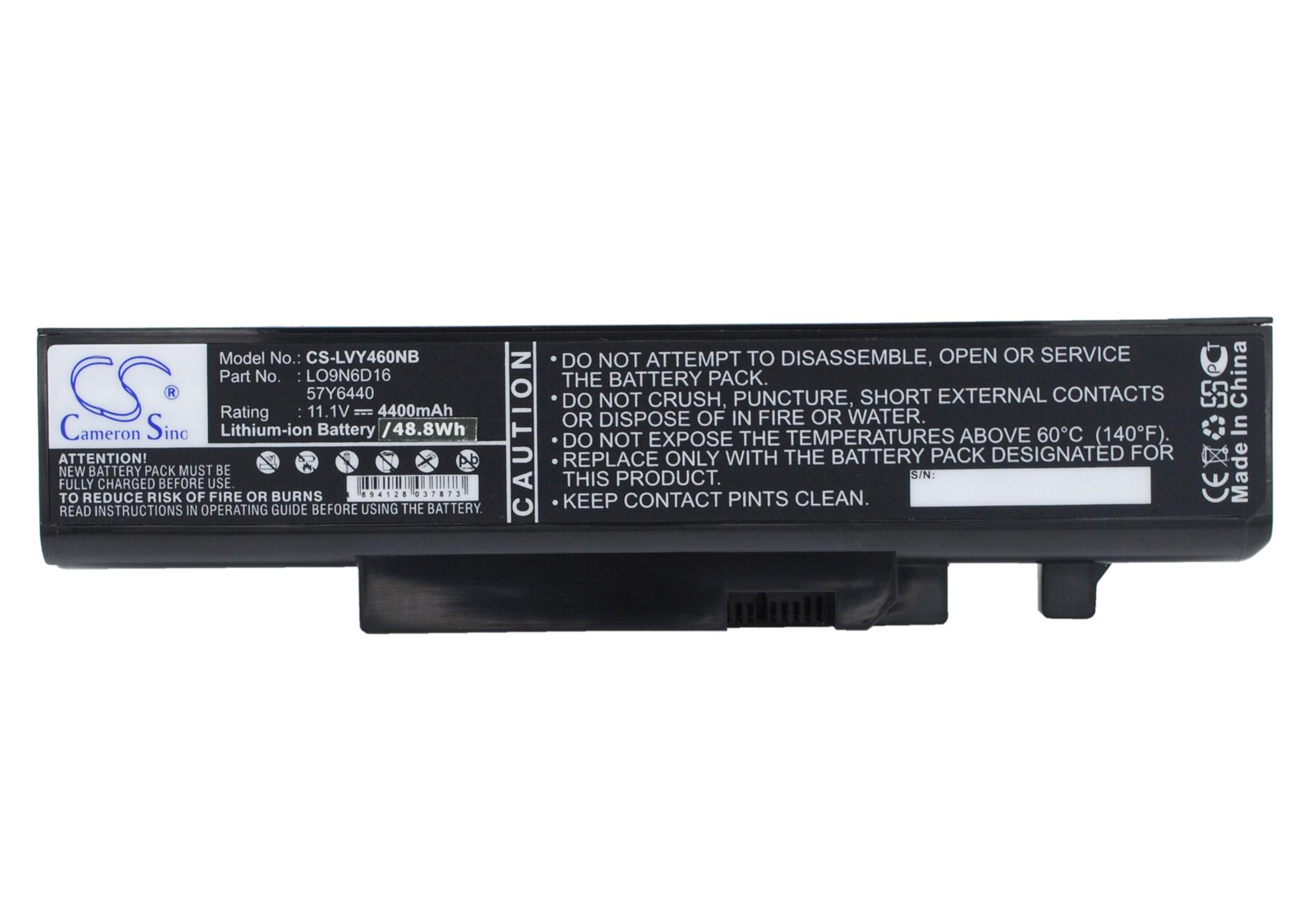 Cameron Sino baterie do notebooků pro LENOVO IdeaPad Y560 11.1V Li-ion 4400mAh černá - neoriginální