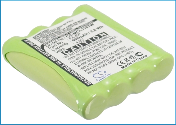 Cameron Sino baterie do vysílaček pro MOTOROLA TLKR-T4 4.8V Ni-MH 600mAh zelená - neoriginální