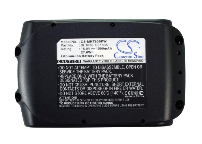 Cameron Sino baterie do nářadí pro MAKITA BHP453RFE 18V Li-ion 1500mAh černá - neoriginální