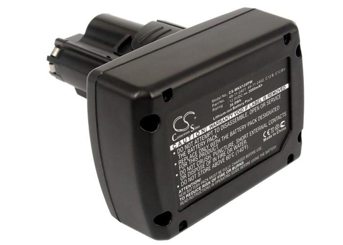 Cameron Sino baterie do nářadí pro MILWAUKEE C12 PD 12V Li-ion 3000mAh černá - neoriginální