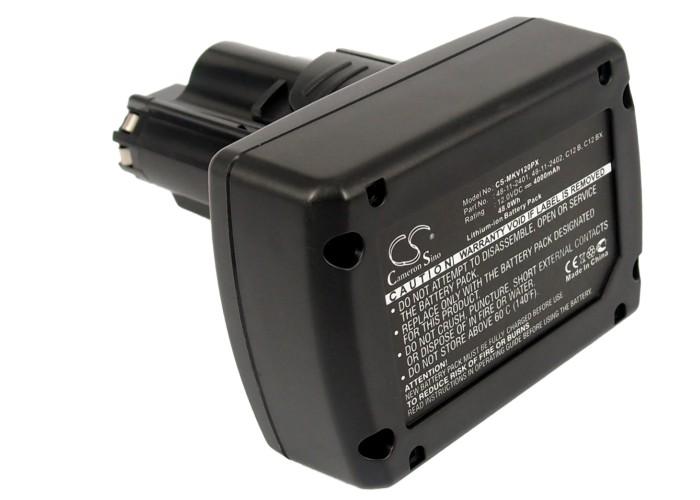 Cameron Sino baterie do nářadí pro MILWAUKEE C12 D 12V Li-ion 4000mAh černá - neoriginální