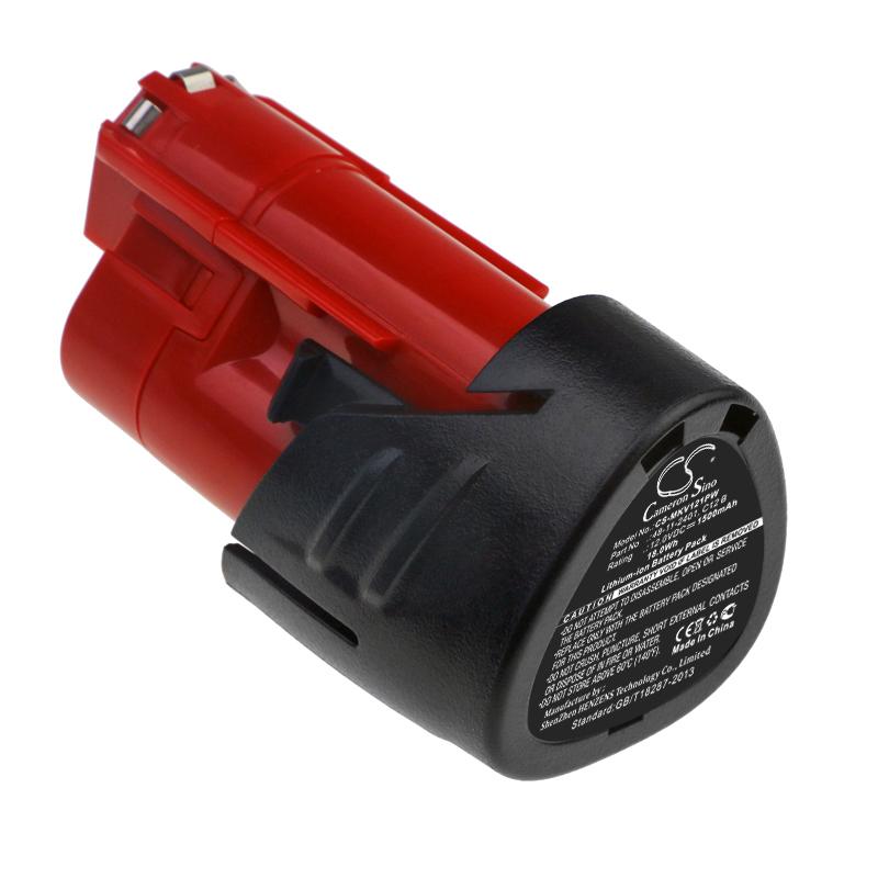 Cameron Sino baterie do nářadí pro MILWAUKEE C12 D 12V Li-ion 1500mAh černá - neoriginální