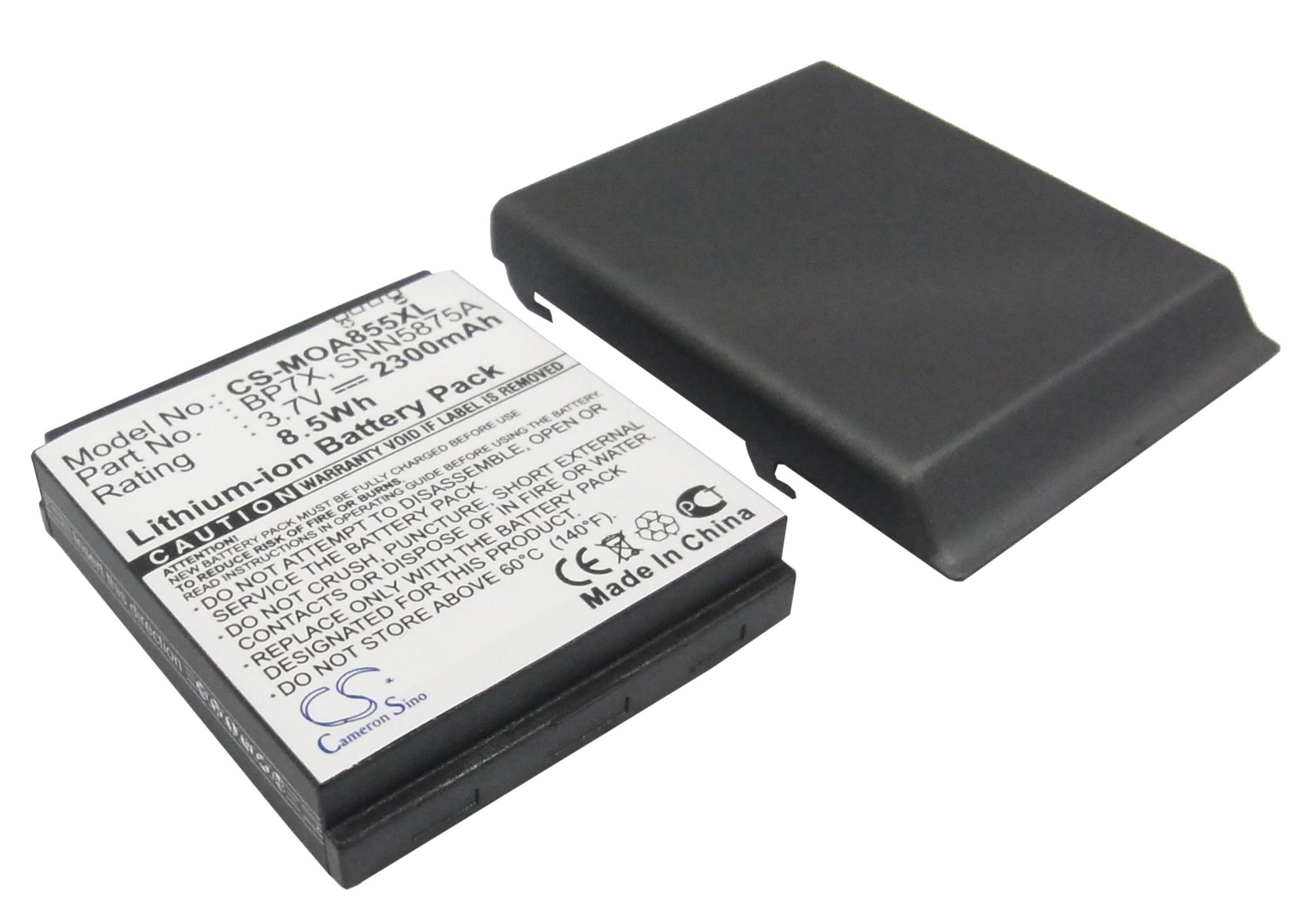 Cameron Sino baterie do mobilů pro MOTOROLA Milestone 3.7V Li-ion 2300mAh kovová šedá - neoriginální