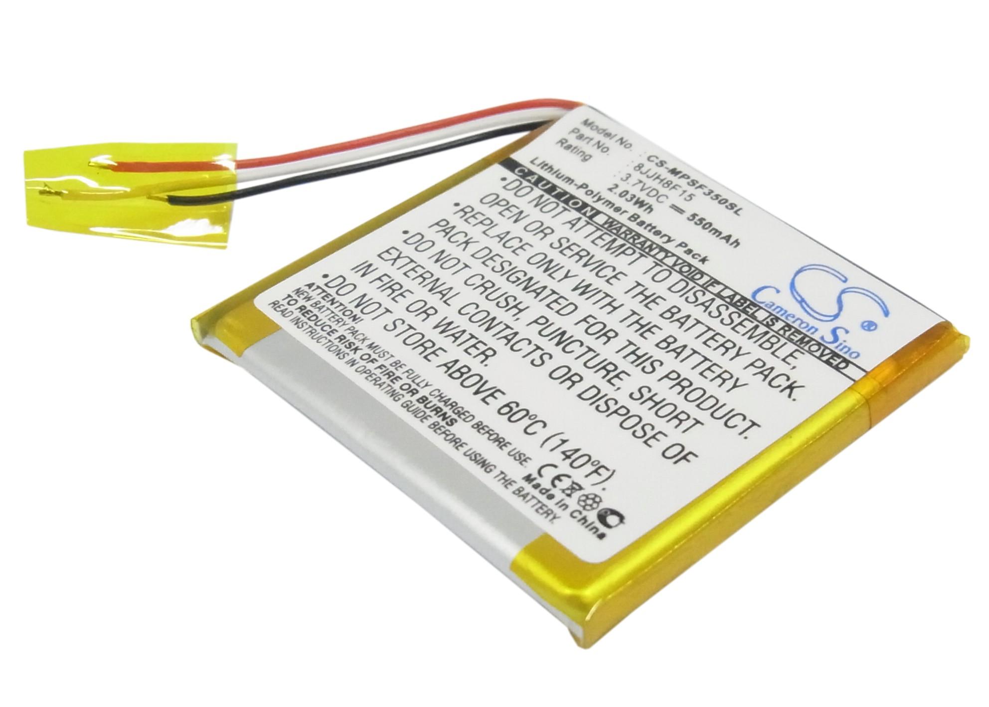Cameron Sino baterie do mp3 přehrávačů pro SANDISK Sansa Fuze 8GB 3.7V Li-Polymer 550mAh černá - neoriginální