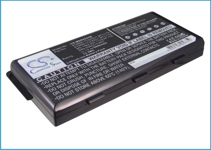 Cameron Sino baterie do notebooků pro MSI MSI A6200 11.1V Li-ion 6600mAh černá - neoriginální