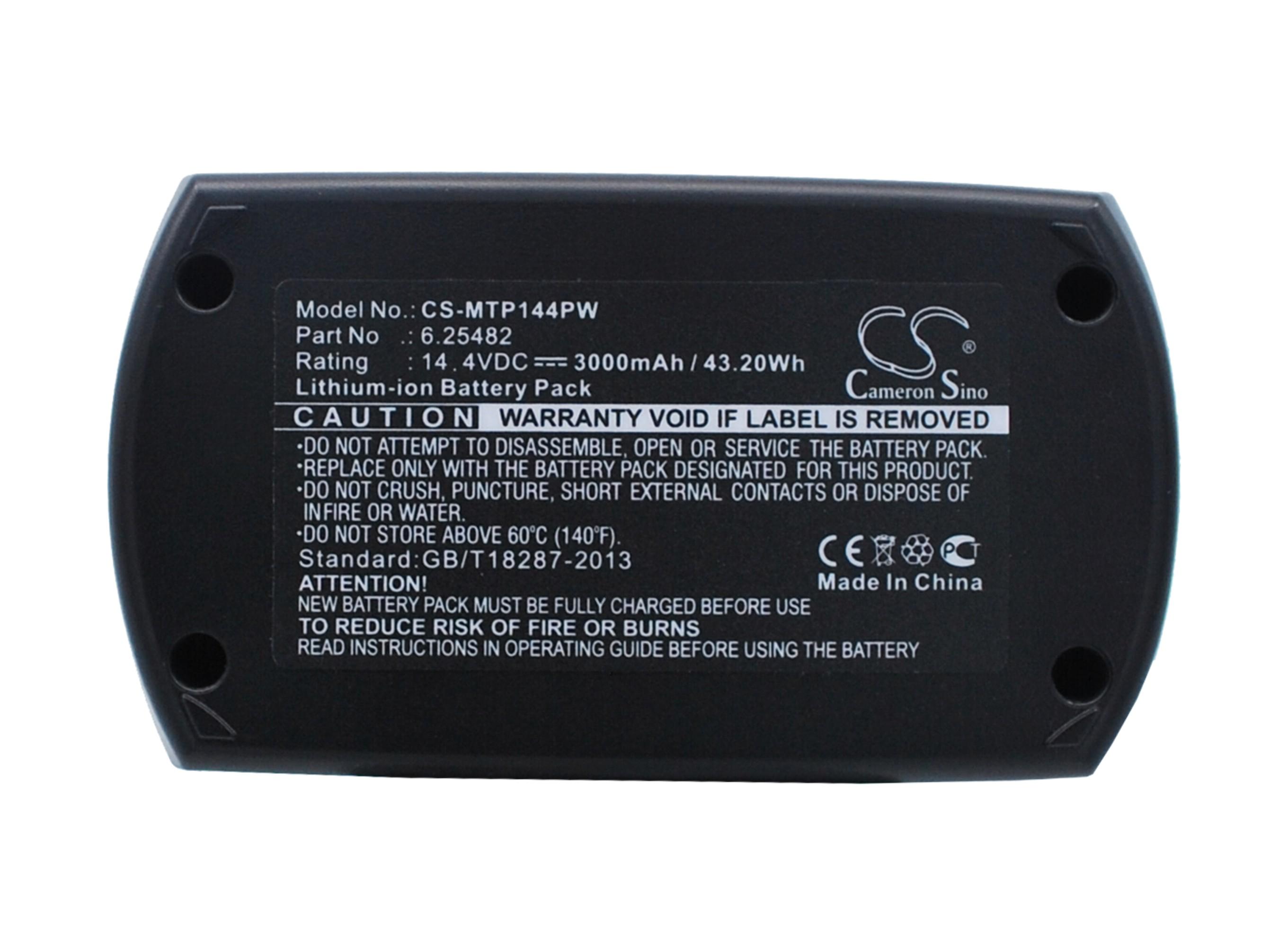 Cameron Sino baterie do nářadí pro METABO BSZ 14.4 Impuls 14.4V Li-ion 3000mAh černá - neoriginální