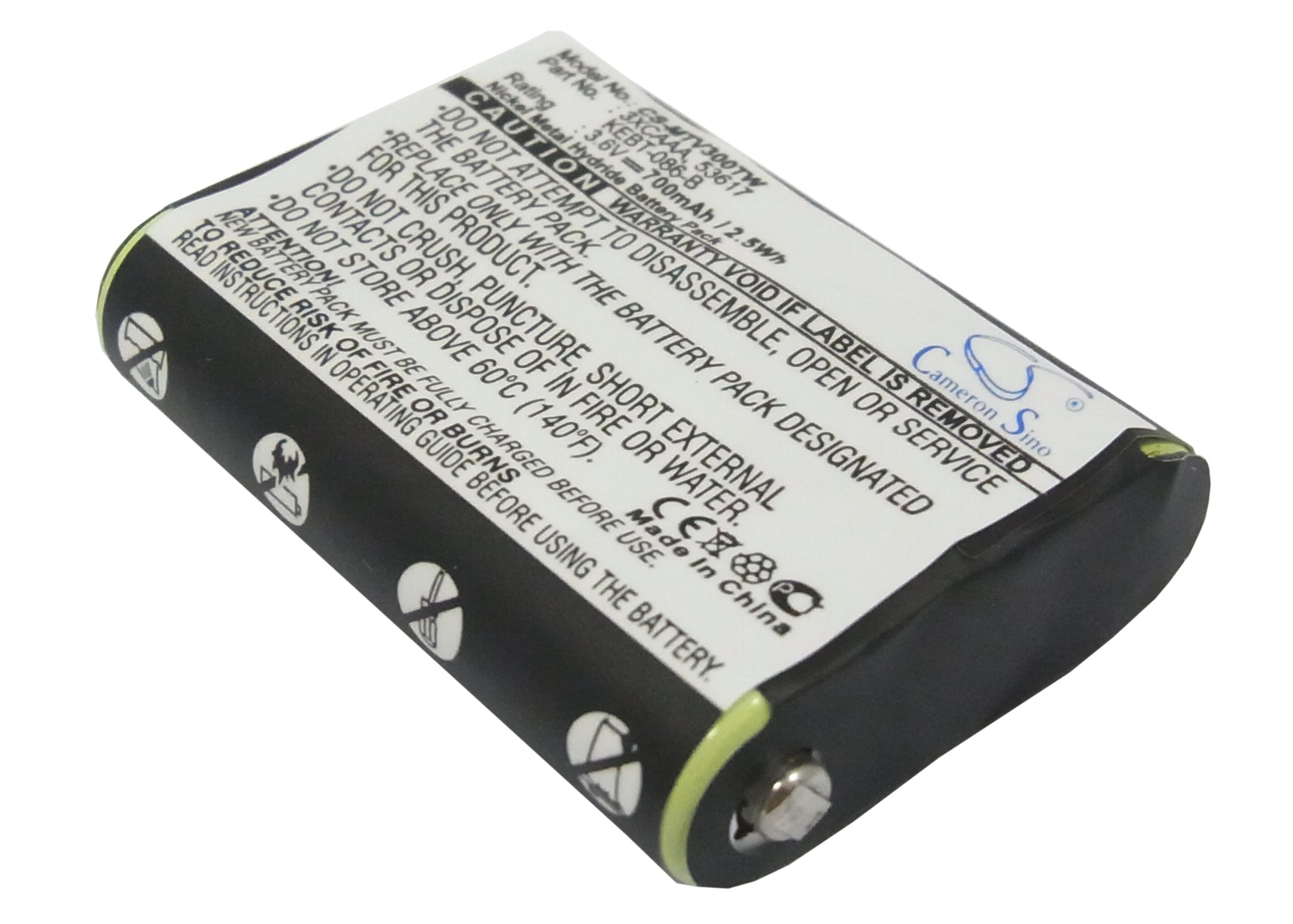 Cameron Sino baterie do vysílaček pro MOTOROLA FV300 3.6V Ni-MH 700mAh černá - neoriginální