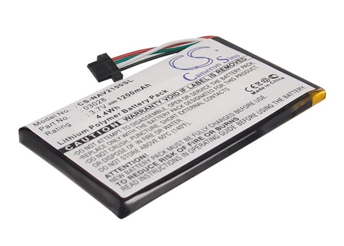 Cameron Sino baterie do navigací (gps) pro NAVIGON 2110 Max 3.7V Li-Polymer 1200mAh černá - neoriginální
