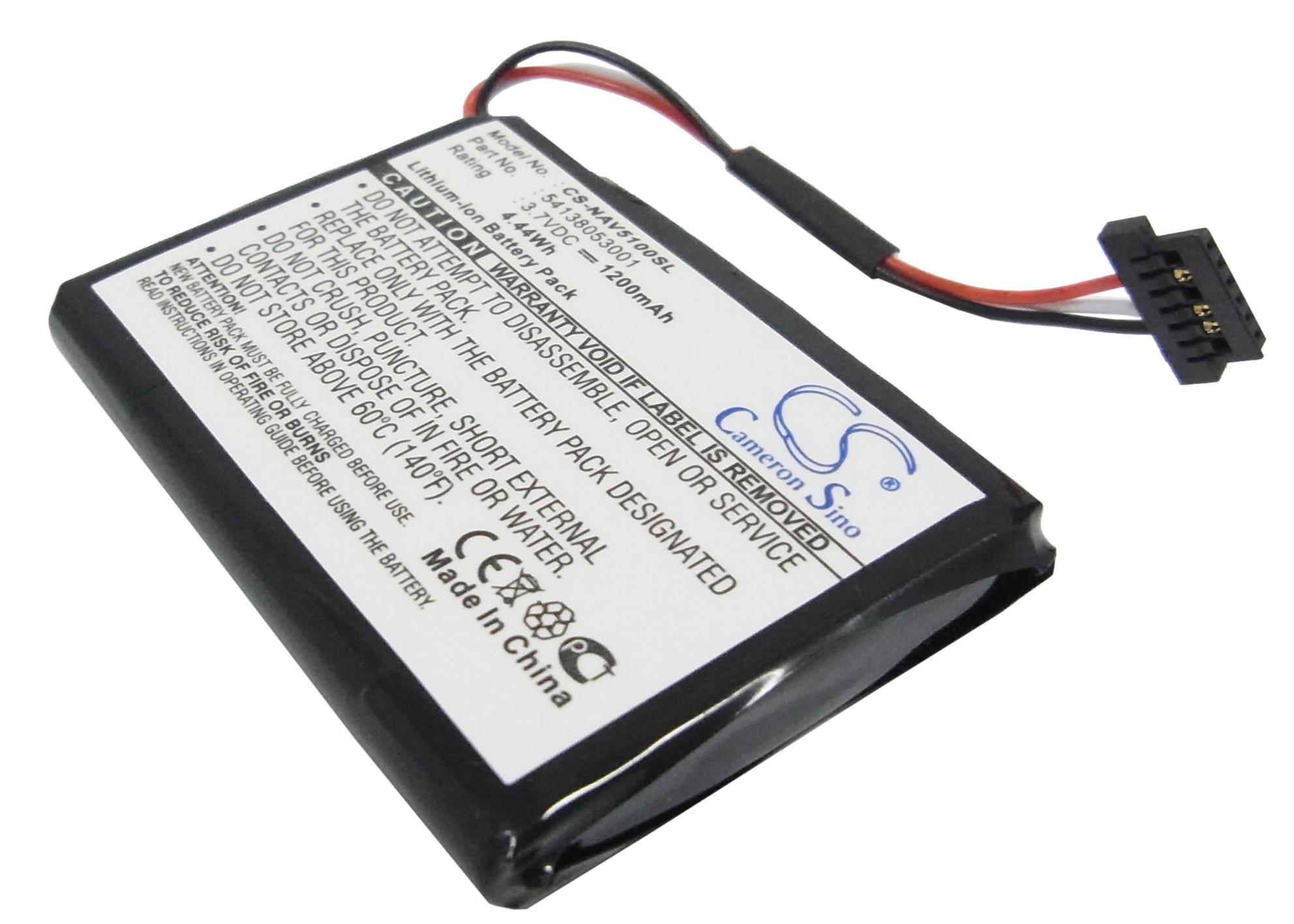 Cameron Sino baterie do navigací (gps) pro NAVIGON 5100 MAX 3.7V Li-ion 1200mAh černá - neoriginální