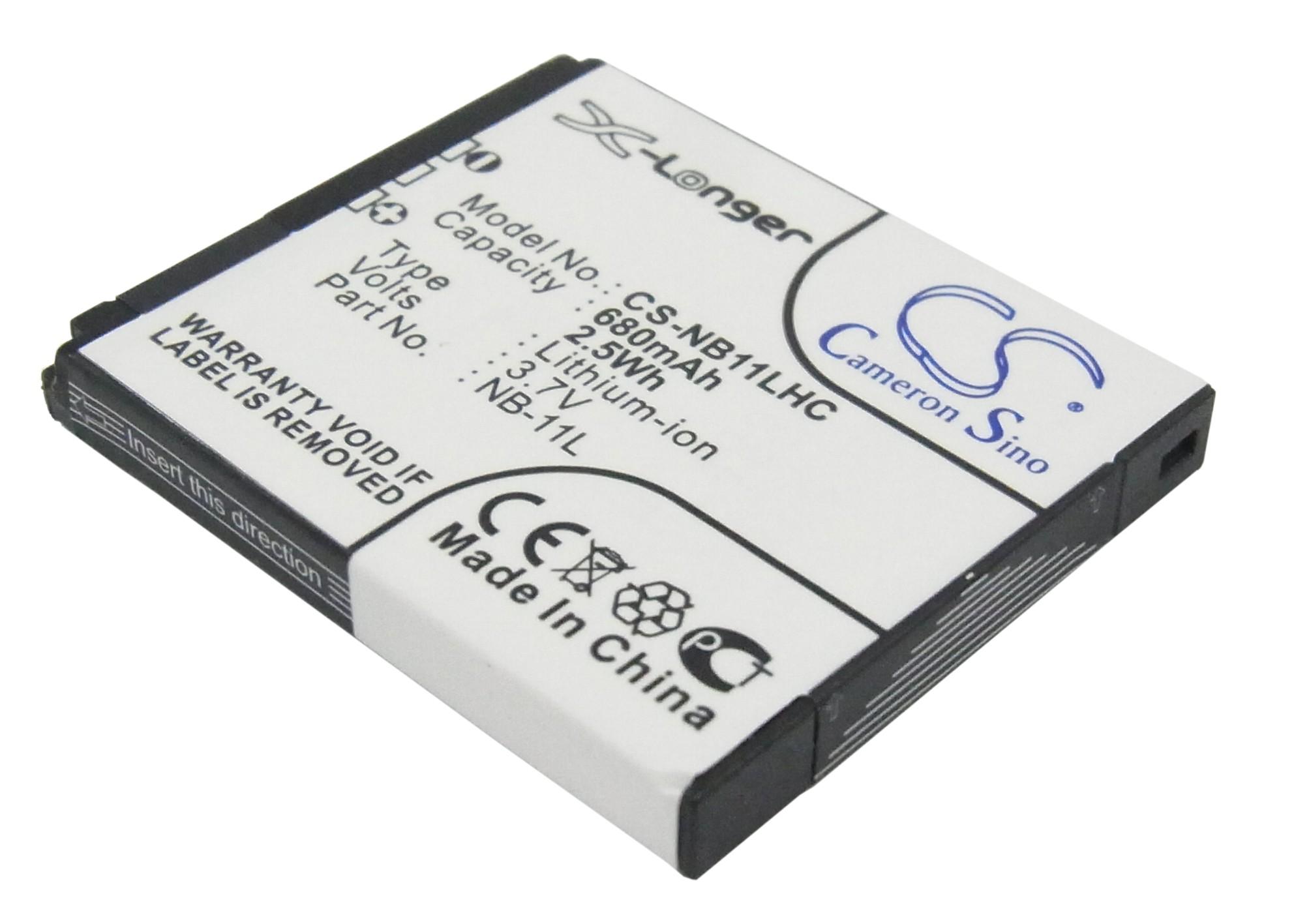 Cameron Sino baterie do kamer a fotoaparátů pro CANON PowerShot ELPH 130 IS 3.7V Li-ion 680mAh černá - neoriginální