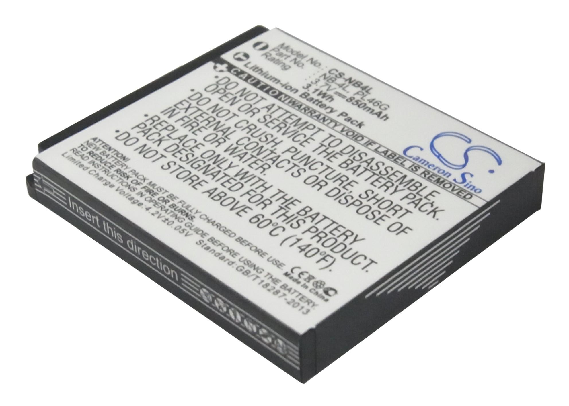 Cameron Sino baterie do kamer a fotoaparátů pro CANON Digital IXUS i7 Zoom 3.7V Li-ion 850mAh černá - neoriginální
