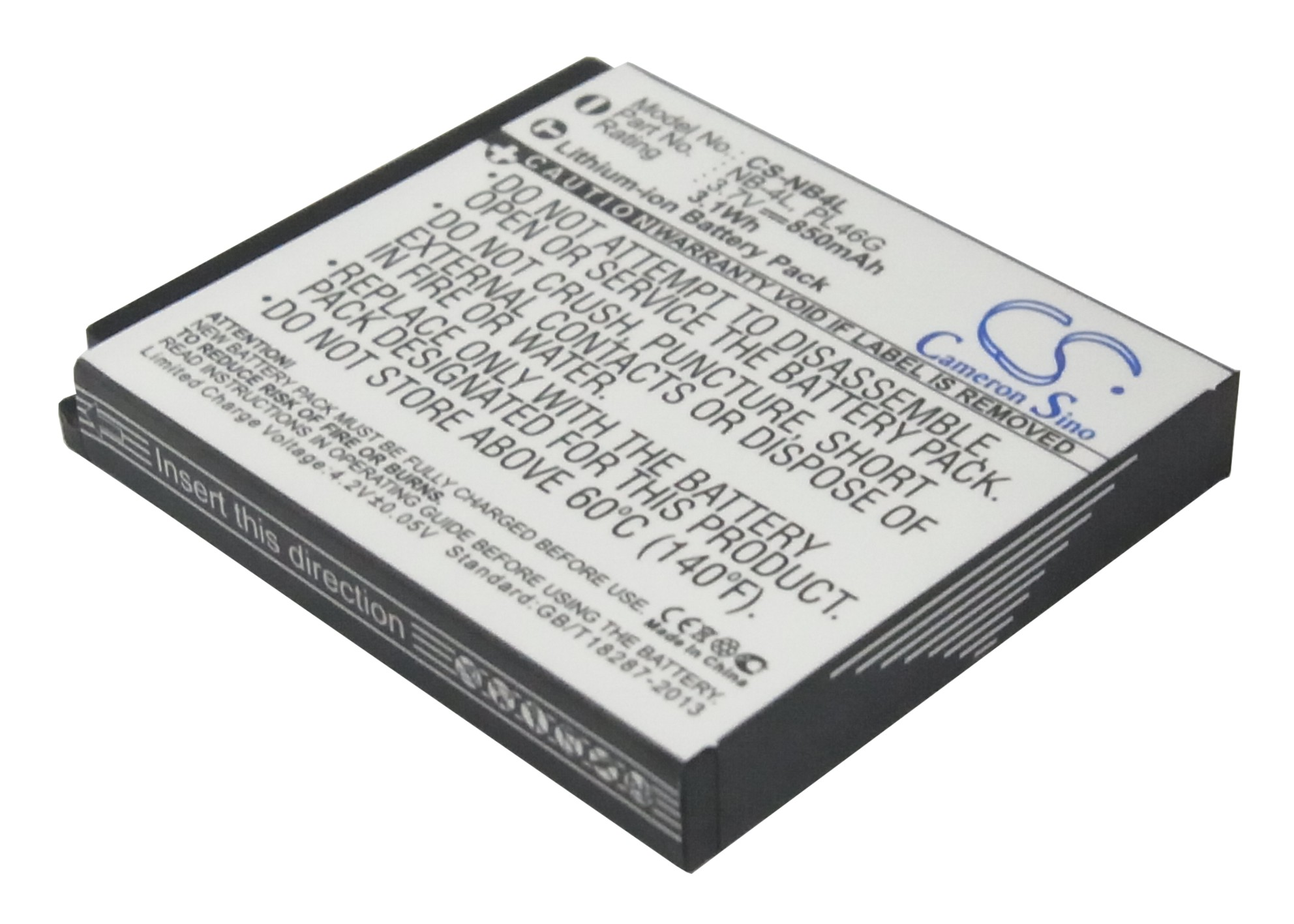 Cameron Sino baterie do kamer a fotoaparátů pro CANON PowerShot ELPH 100 HS 3.7V Li-ion 850mAh černá - neoriginální