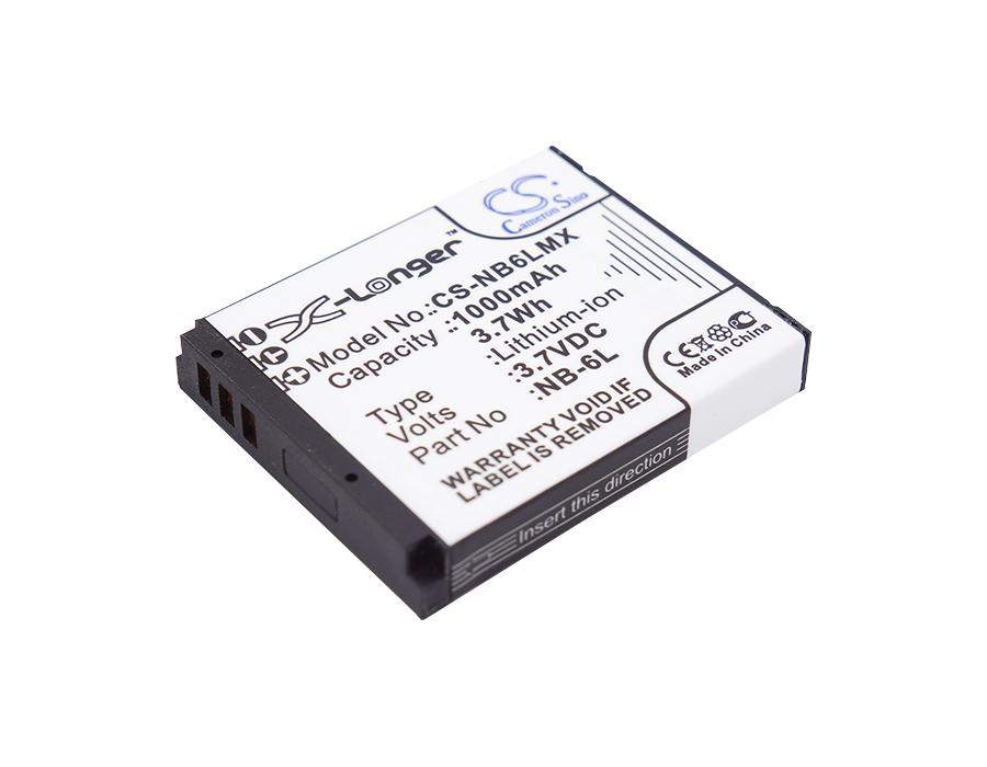 Cameron Sino baterie do kamer a fotoaparátů pro CANON PowerShot SD1300 IS 3.7V Li-ion 1000mAh černá - neoriginální