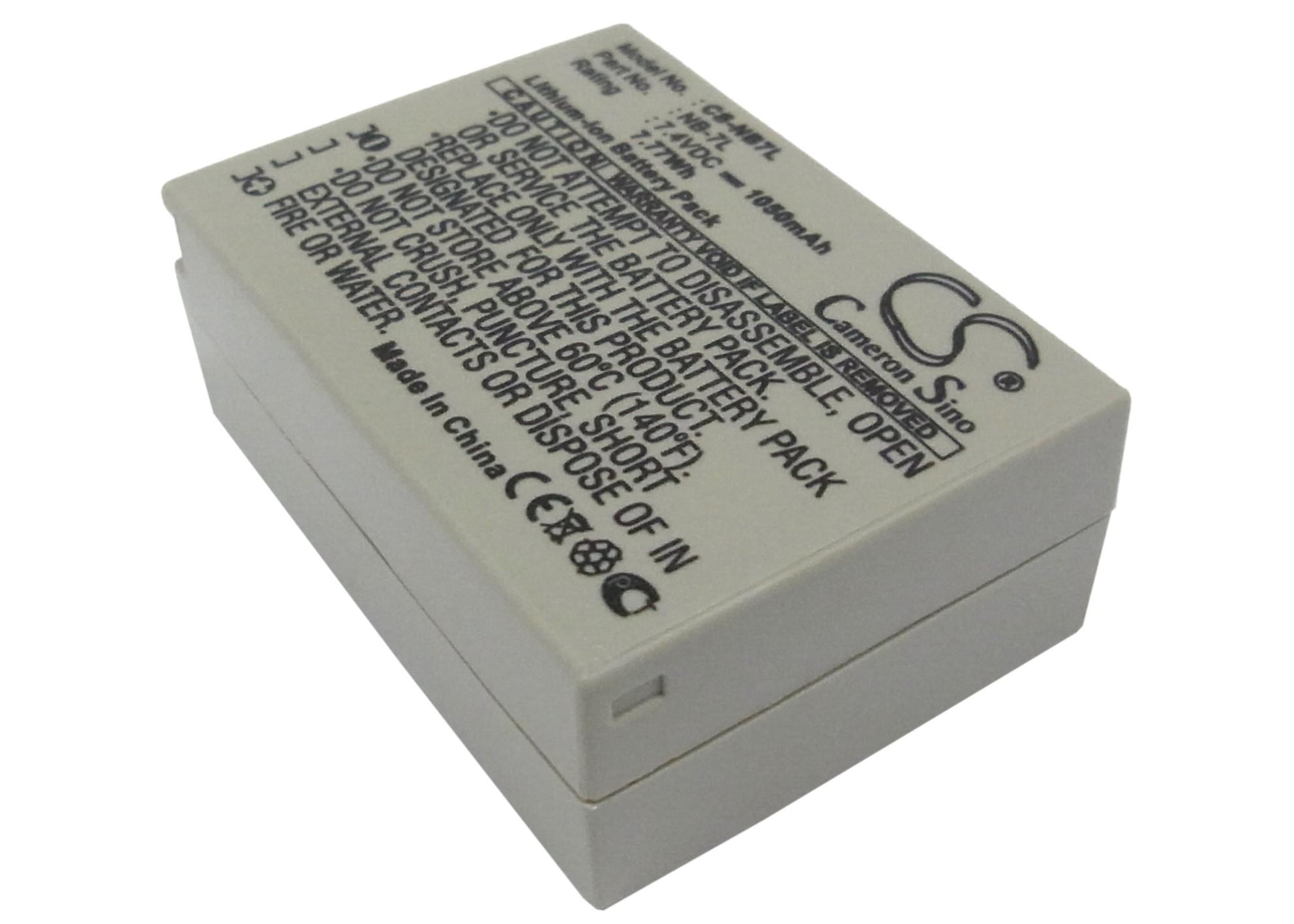 Cameron Sino baterie do kamer a fotoaparátů pro CANON PowerShot G11 7.4V Li-ion 1050mAh bílá šedá - neoriginální