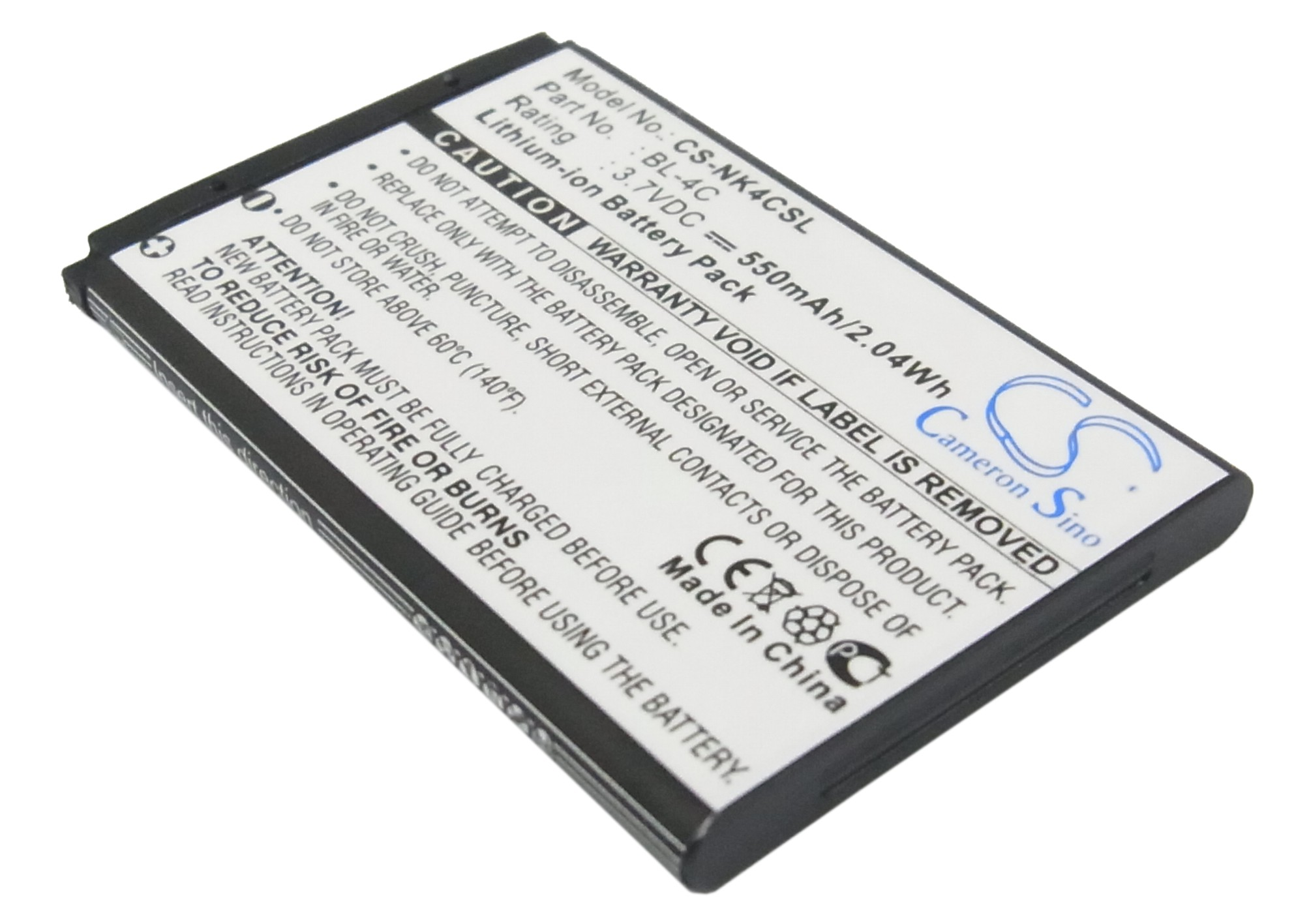 Cameron Sino baterie do mobilů pro NOKIA 2650 3.7V Li-ion 550mAh černá - neoriginální