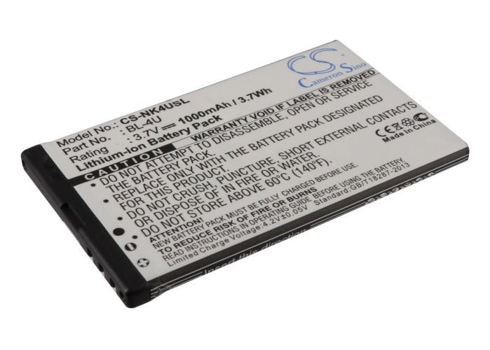 Cameron Sino baterie do mobilů pro NOKIA 500 3.7V Li-ion 1000mAh černá - neoriginální