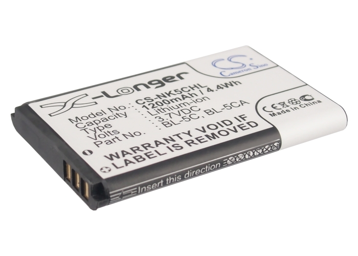Cameron Sino baterie do mobilů pro NOKIA 1600 3.7V Li-ion 1200mAh černá - neoriginální