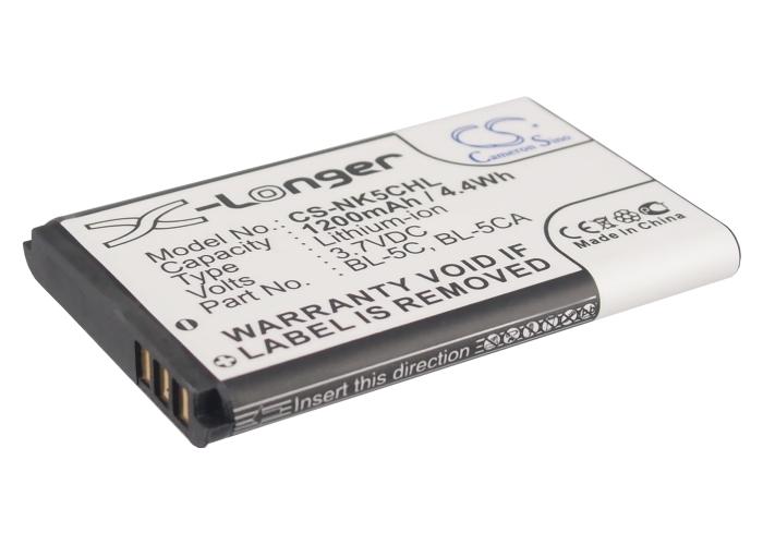 Cameron Sino baterie do mobilů pro NOKIA C2-01 3.7V Li-ion 1200mAh černá - neoriginální