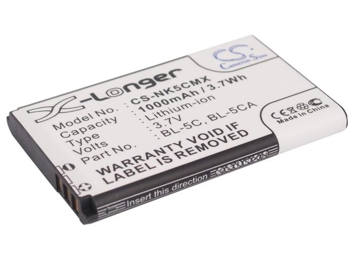 Cameron Sino baterie do mobilů pro NOKIA C2-02 3.7V Li-ion 1000mAh černá - neoriginální