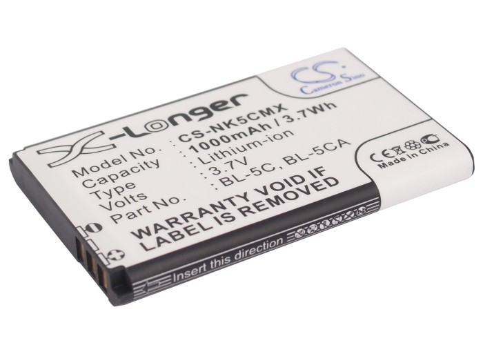 Cameron Sino baterie do mobilů pro NOKIA X2-05 3.7V Li-ion 1000mAh černá - neoriginální