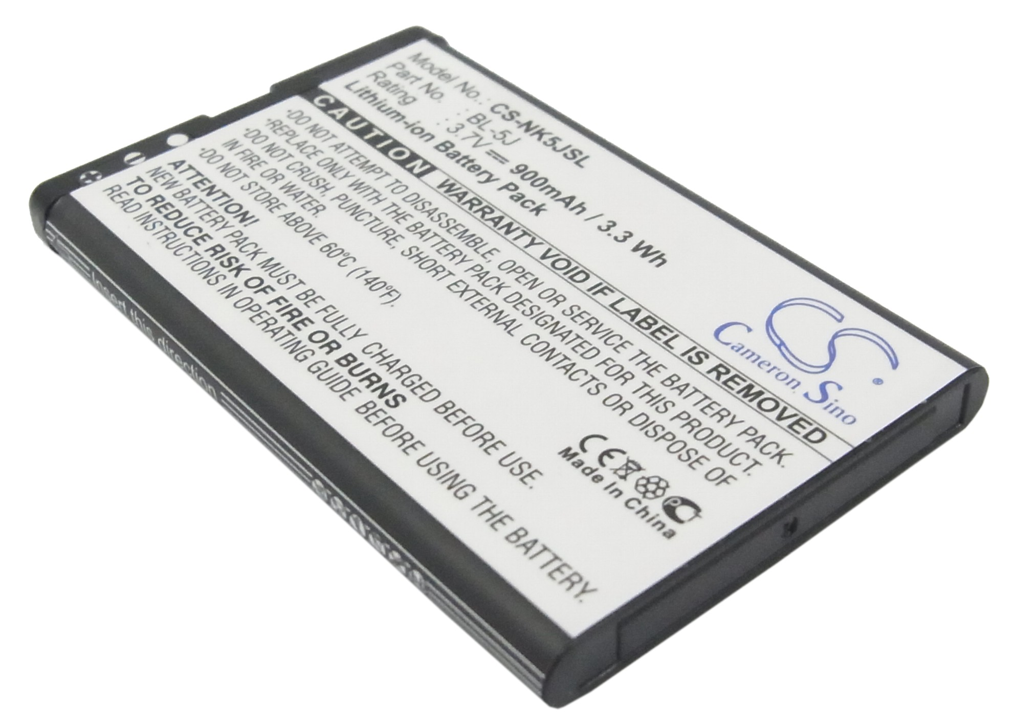Cameron Sino baterie do mobilů pro NOKIA 5800 Navigation Edition 3.7V Li-ion 900mAh černá - neoriginální