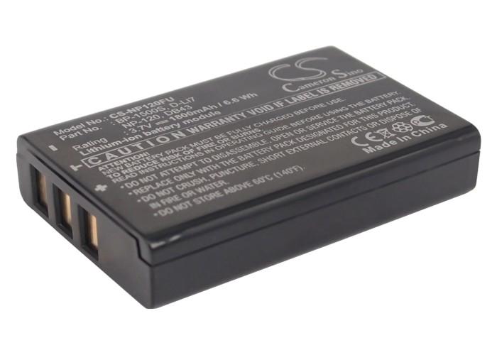 Cameron Sino baterie do kamer a fotoaparátů pro TOSHIBA Camileo X100 3.7V Li-ion 1800mAh černá - neoriginální