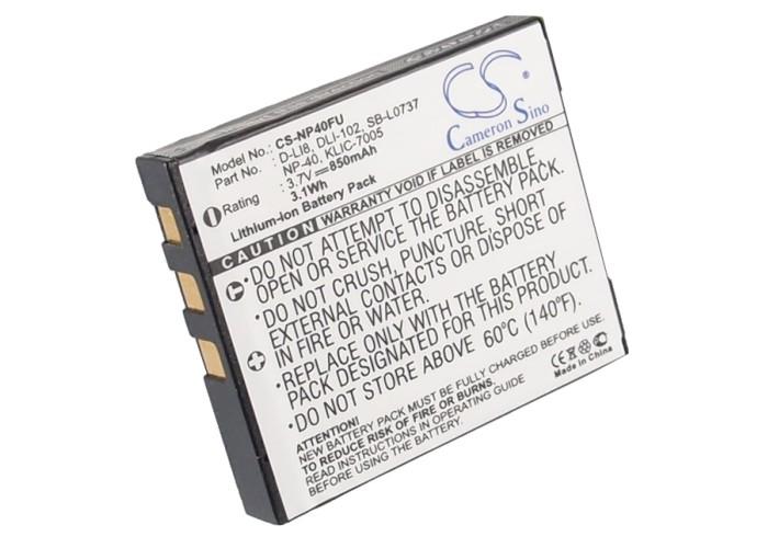 Cameron Sino baterie do kamer a fotoaparátů pro KODAK EasyShare C763 3.7V Li-ion 850mAh černá - neoriginální